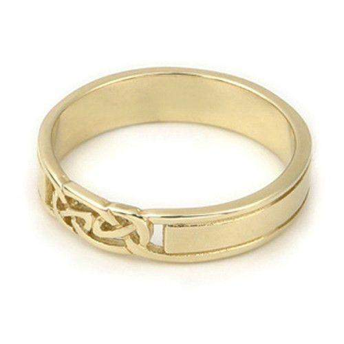 9ct or 18ct Yellow or White Gold Celtic Wedding Ring - GR257 - J-Q-Ogham Jewellery