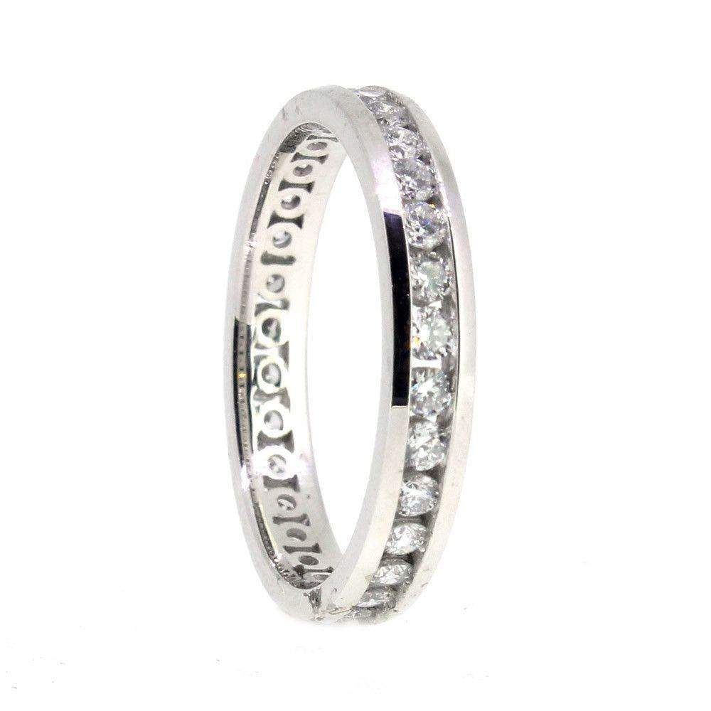White Gold and Diamond Quarter Carat Eternity ring-Ogham Jewellery