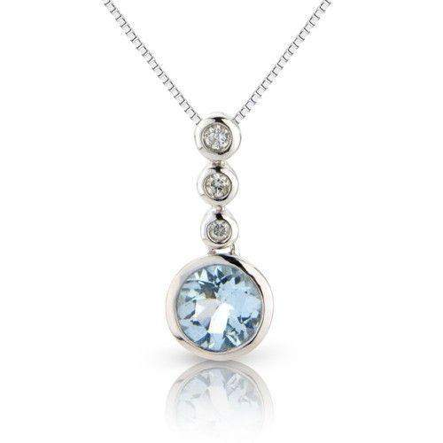 416afbb1edd63 9ct White Gold Aquamarine   Diamonds Pendant -6M70WDAQ-Ogham Jewellery