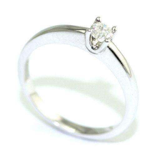 9ct White Gold Diamond Engagement Ring - 0.15ct-Ogham Jewellery