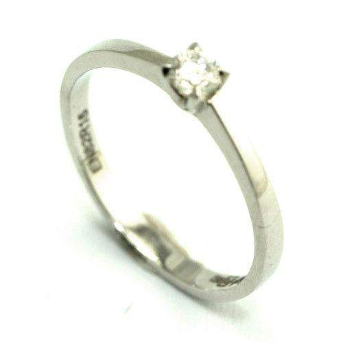 9ct White Gold Diamond Engagment Ring - 0.20 carat-Ogham Jewellery