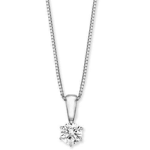 9ct White Gold Diamond Pendant - MMH-9-CP20W-Ogham Jewellery
