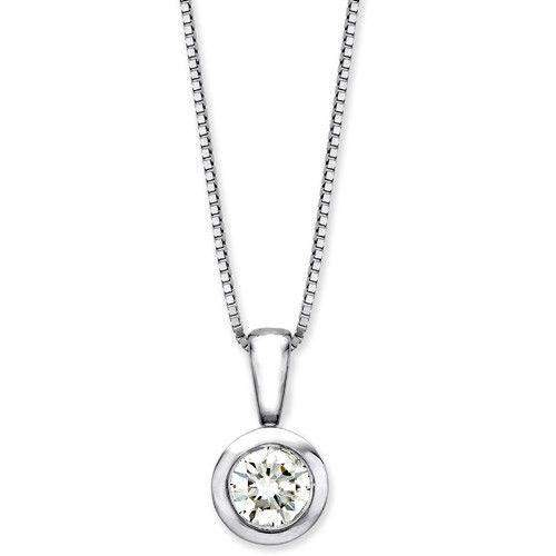 9ct White Gold Diamond Pendant - MMH-9-RP25W-Ogham Jewellery