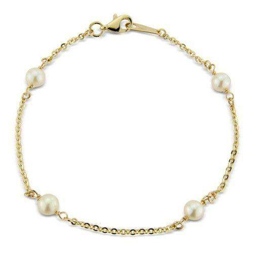 9ct Yellow Gold &Pearl Bracelet- MM2U22-7CP
