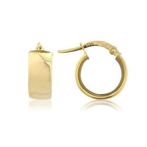 9ct Yellow, White or Rose Gold Hoop Earrings - MM8F16Q-Ogham Jewellery