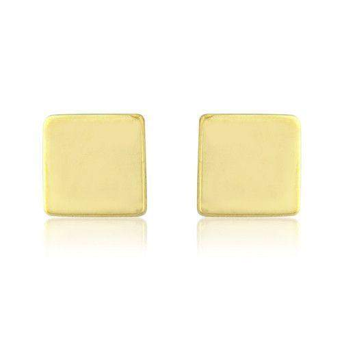 9ct Yellow, White or Rose Gold Stud Earrings - MM8734Q-Ogham Jewellery