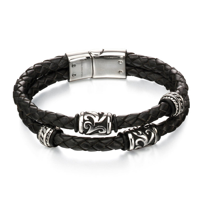 Fred Bennett Leather Mens Bracelet - B4980