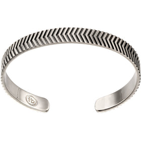 Fred Bennett Chevron Sterling Silver Mens Bangle - B5113