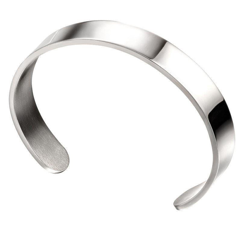 Fred Bennett Plain Stainless Steel Mens Bangle - B5114