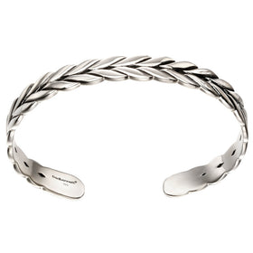 Fred Bennett Sterling Silver Plaited Mens Bangle - B5115