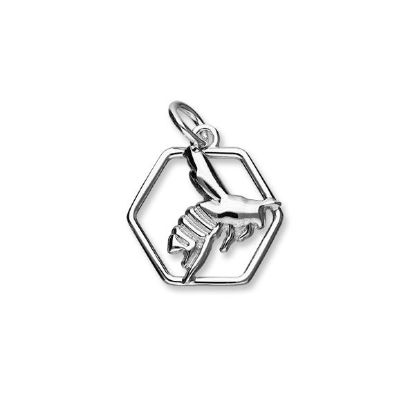 Honey Bee Sterling Silver Charm - C392