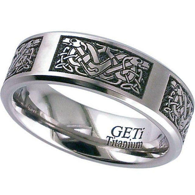 Titanium Celtic Ring - 2226CH-CD4