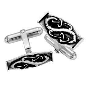 Silver Celtic Relief Cufflinks - CL007