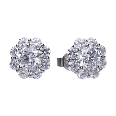 Flower Cluster Stud Earrings - E5587