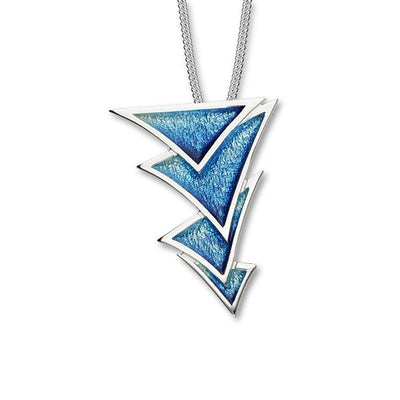 Enamel and Silver Ignite Necklace EP351