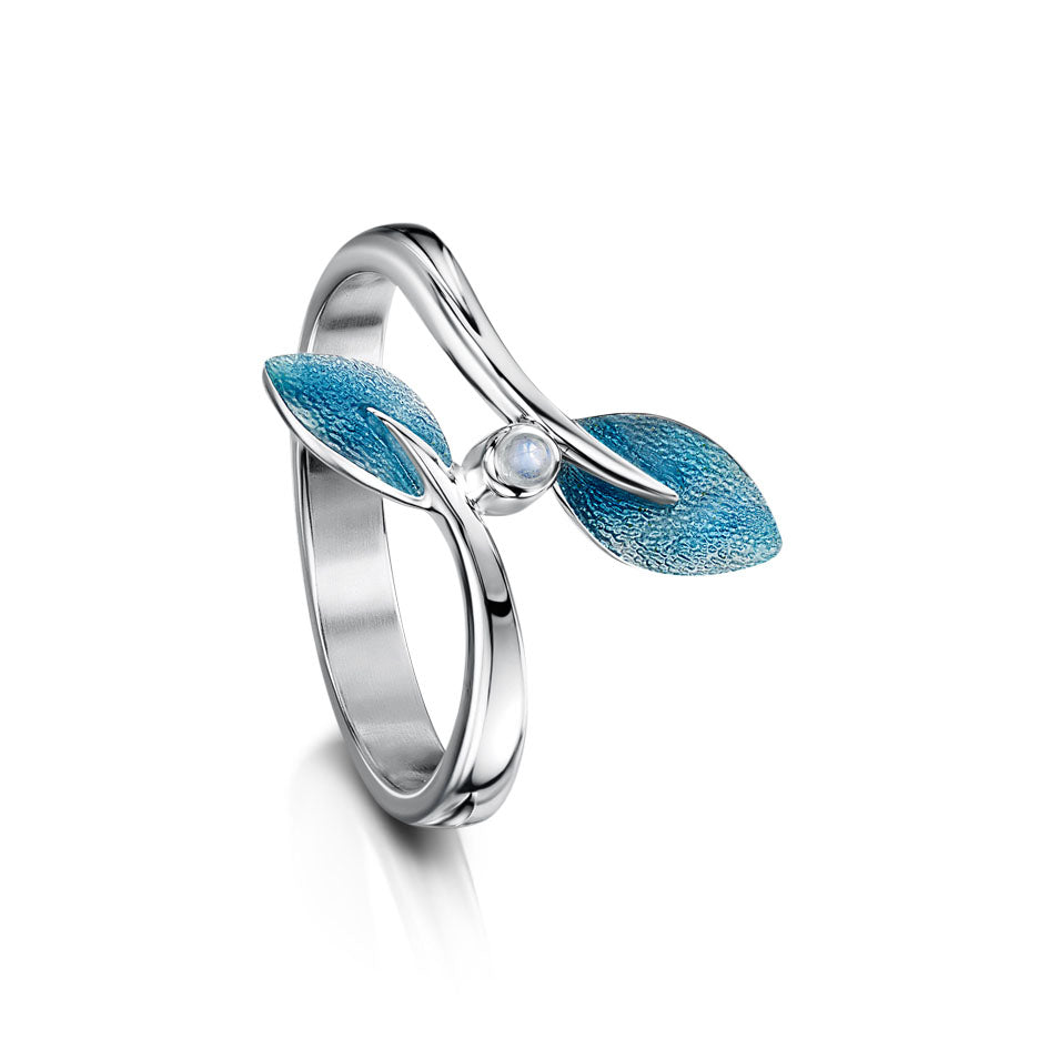 Rowan Sterling Silver, Enamel and Moonstone Ring - ESR158