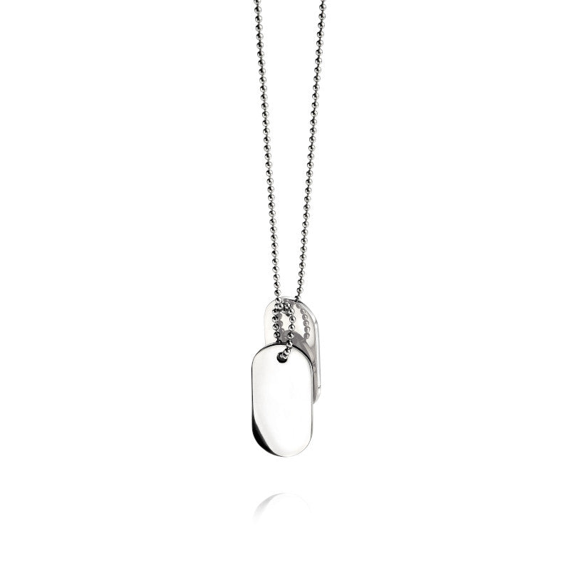 Fred Bennett Stainless Steel Dog Tag Necklace - N2686