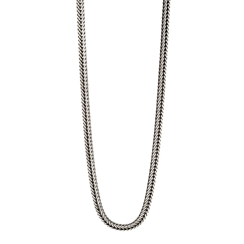 Fred Bennett Sterling Silver Fox Tail Chain - N4277