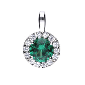 Green Emerald Coloured Pendant - P4624