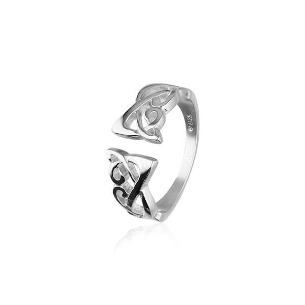 Celtic Knot Ring - Silver or Gold - R121