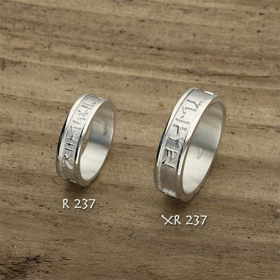 Runic Ring - Silver or 9ct Yellow Gold - R237 - Sizes J-Q