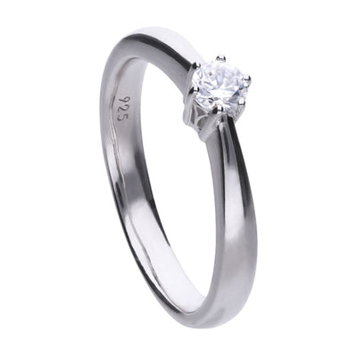 Claw Set 0.25 Carat Solitaire Ring - R3617