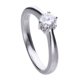 Claw Set 0.5 Carat Solitaire Ring - R3618
