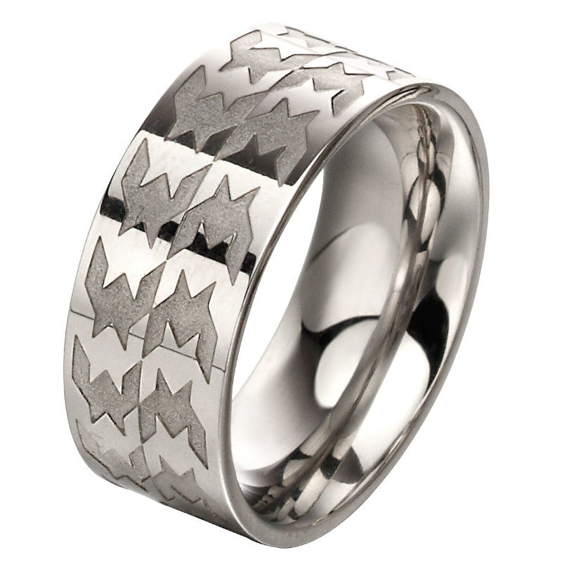 Fred Bennett Mens Mixed Steel Plate Ring - R3668