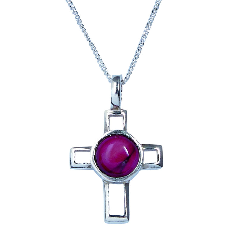 Heather Small Open Cross Silver Pendant - SP309