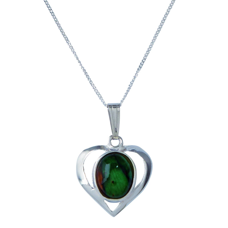 Heather Open Heart Silver - SP405
