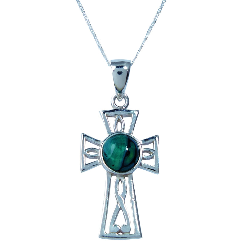 Heather Gothic Celtic Cross Silver Pendant - SP427