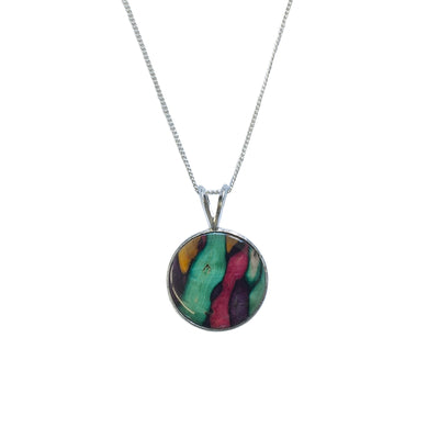 Heather Circle Pendant - SP432