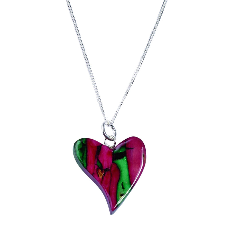 Heather Quirky Heart Heather Pendant - SP64
