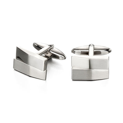 Fred Bennett Square Brushed Cufflinks - V520