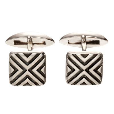 Fred Bennett Sterling Silver Linear Cufflinks - V536