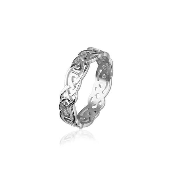 Celtic Knotwork Ring Silver or Gold - XR129 - 7mm R-Z