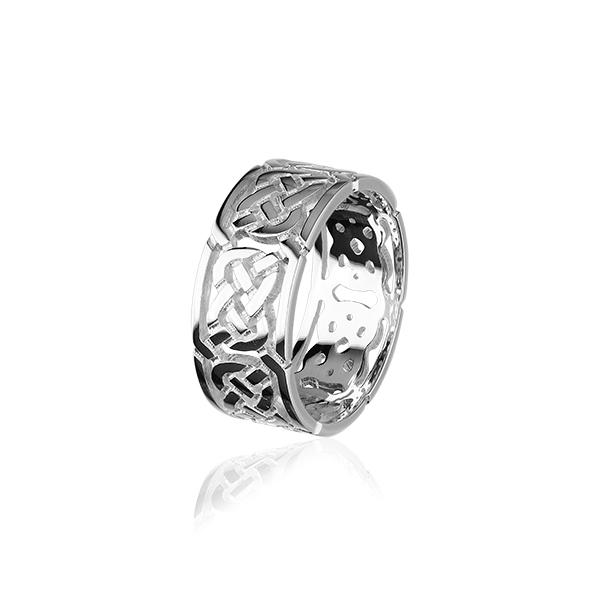 Celtic Knot Ring - Silver or Gold - XR132 Sizes R-Z