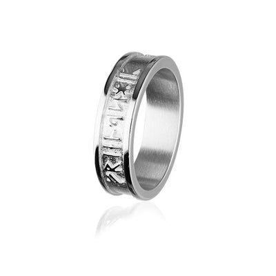 Runic Ring - Silver or 9ct Yellow Gold - XR237 - Sizes R-Z