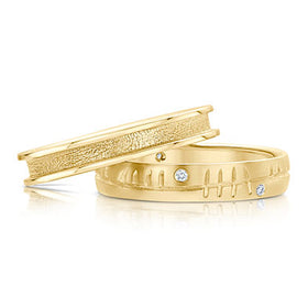 Halo 9ct Gold Ring Set - SET-R121-DR099
