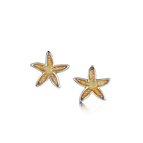 Starfish Sterling Silver with Enamel Stud Earrings - EE251