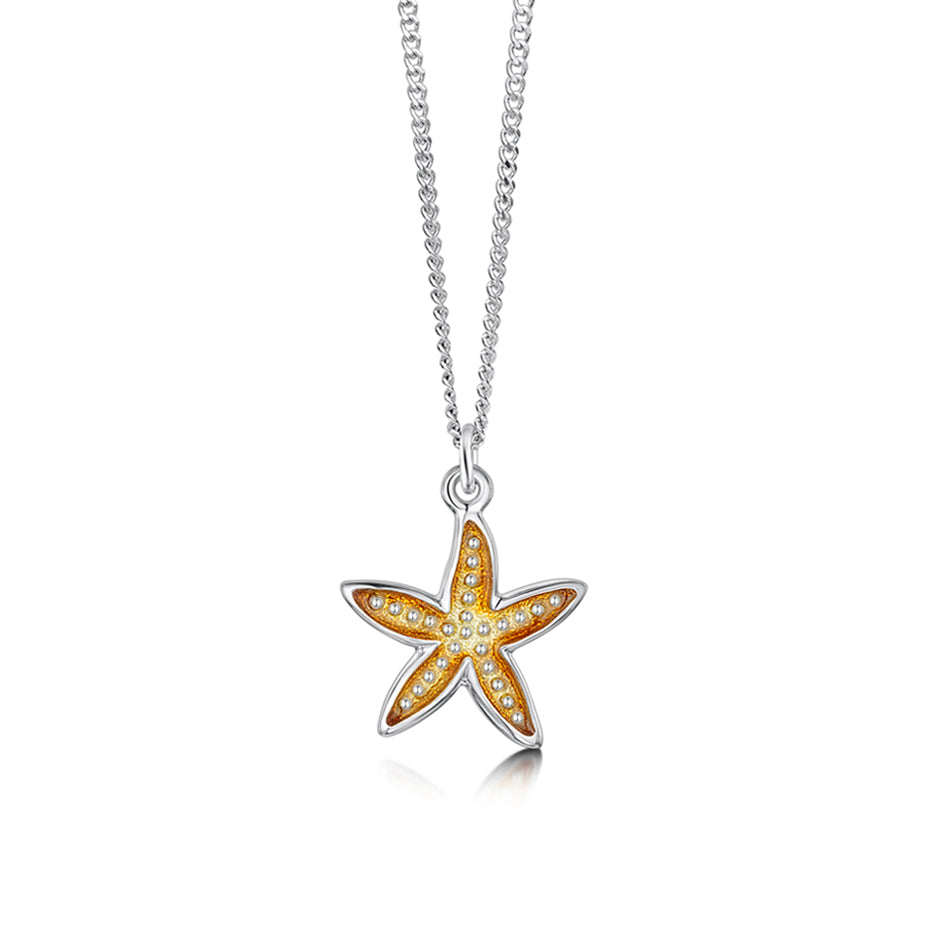 Starfish Sterling Silver with Enamel Pendant - EP251