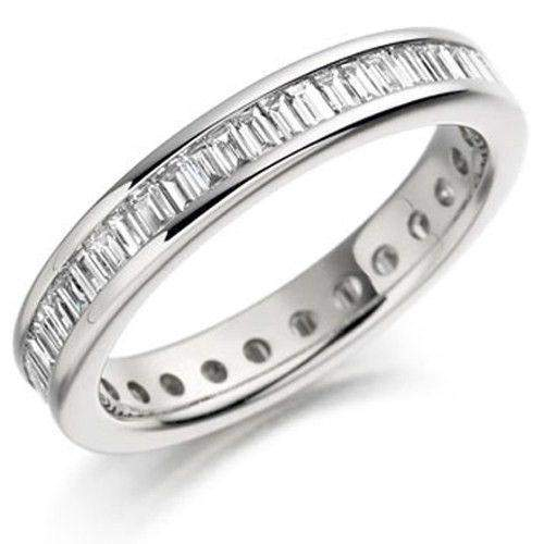 Baguette Cut Diamond Eternity Ring - Available in Gold or Platinum - ET111-Ogham Jewellery