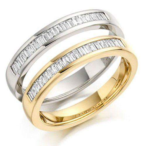 Baguette Diamond Half Eternity Ring 0.2ct - Gold & Platinum Available HET143