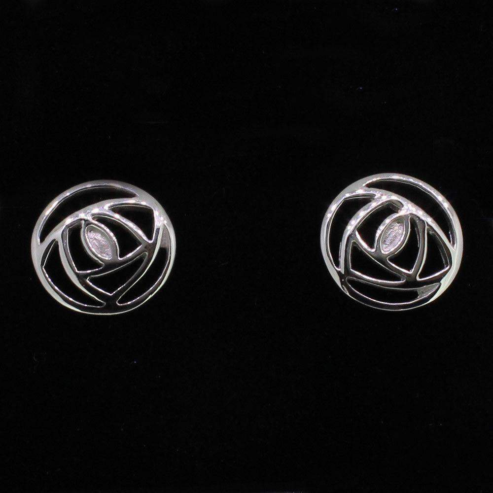 Silver Mackintosh Earrings-791
