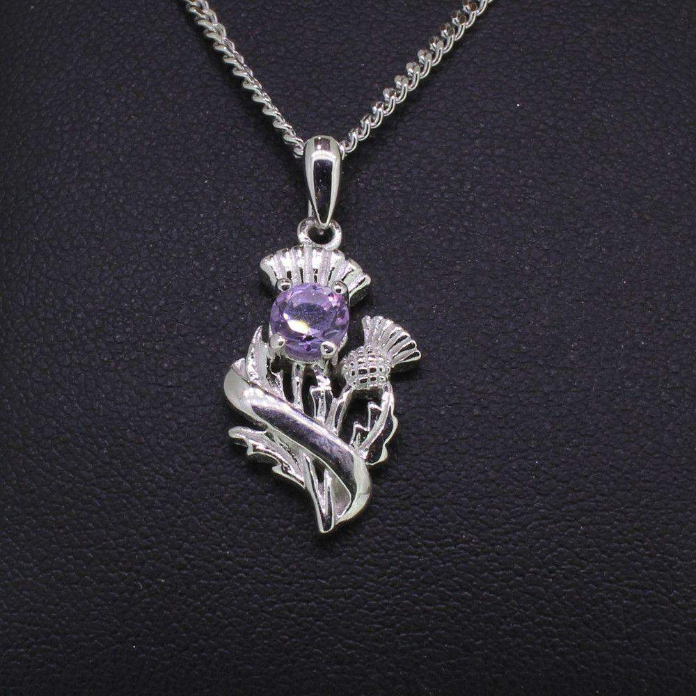 Cairn sterling silver and amethyst scottish thistle pendant 55520 cairn sterling silver and amethyst scottish thistle pendant 55520 ogham jewellery aloadofball Images