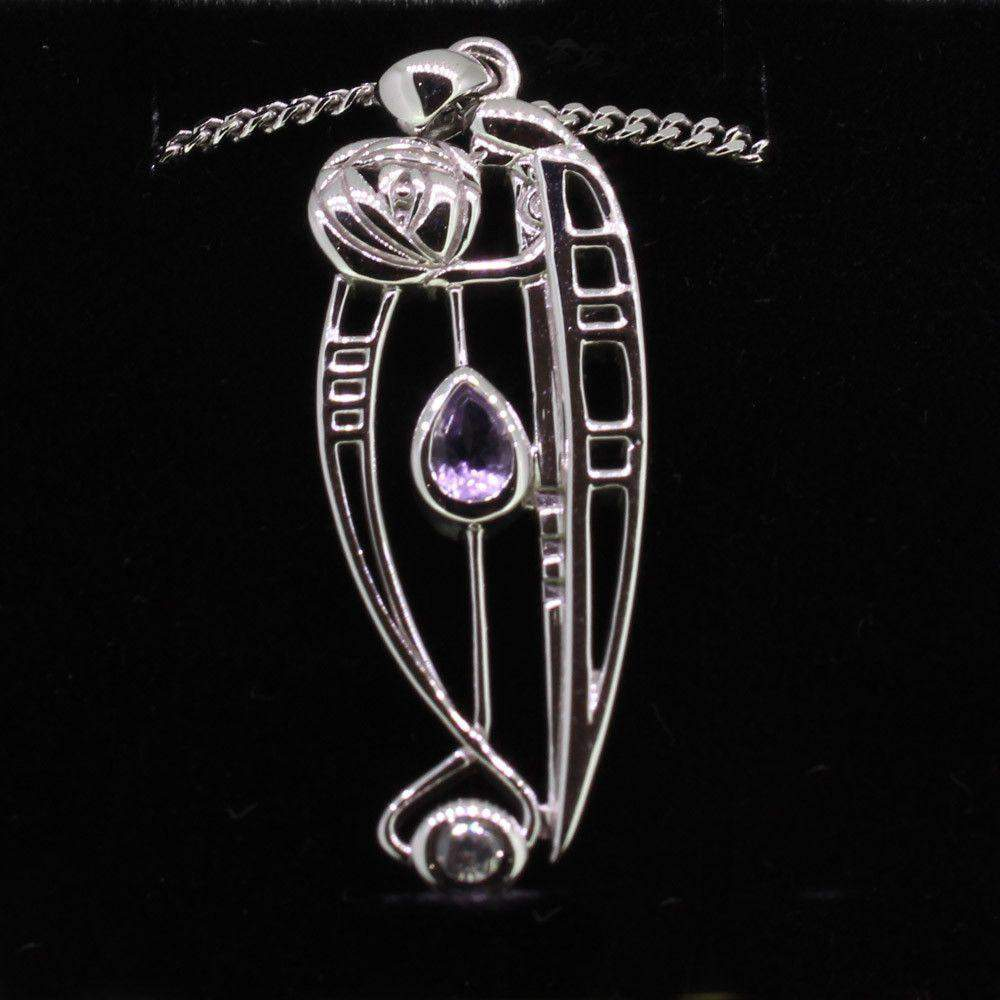 Cairn Sterling Silver And Gemstone Mackintosh Pendant - P320-Ogham Jewellery