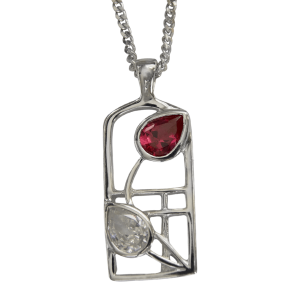 Cairn Sterling Silver And Gemstone Mackintosh Pendant - P584-Ogham Jewellery