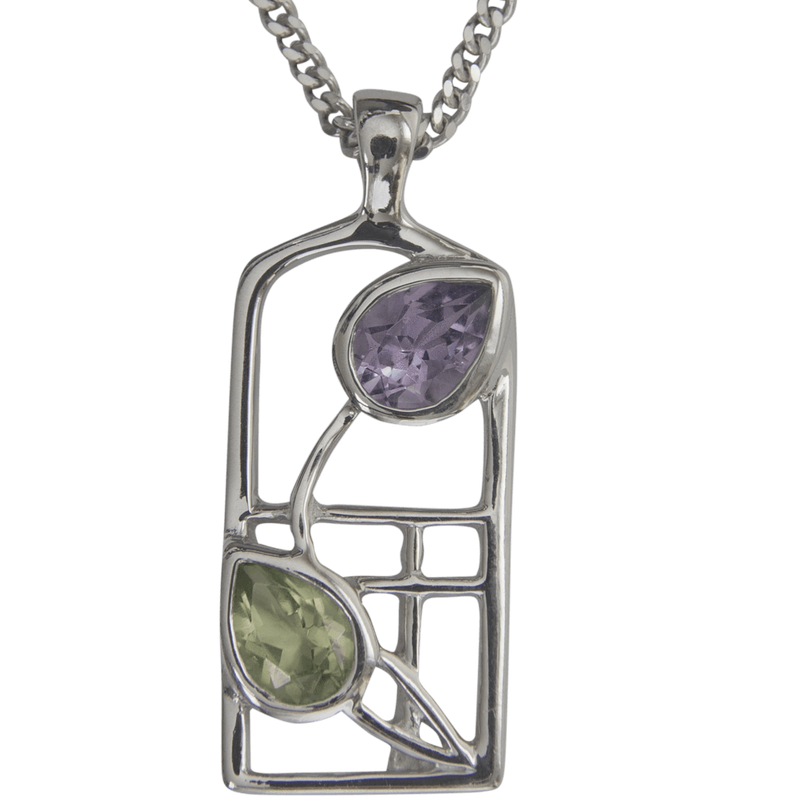 Cairn Sterling Silver And Gemstone Mackintosh Pendant - P598-Ogham Jewellery