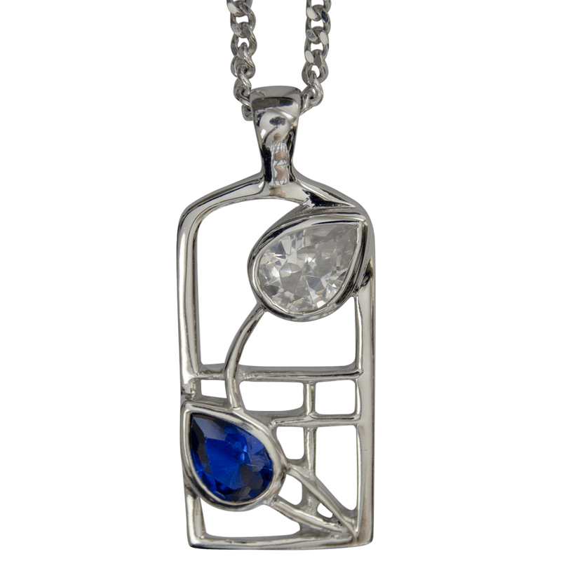 Cairn Sterling Silver And Gemstone Mackintosh Pendant - P604-Ogham Jewellery