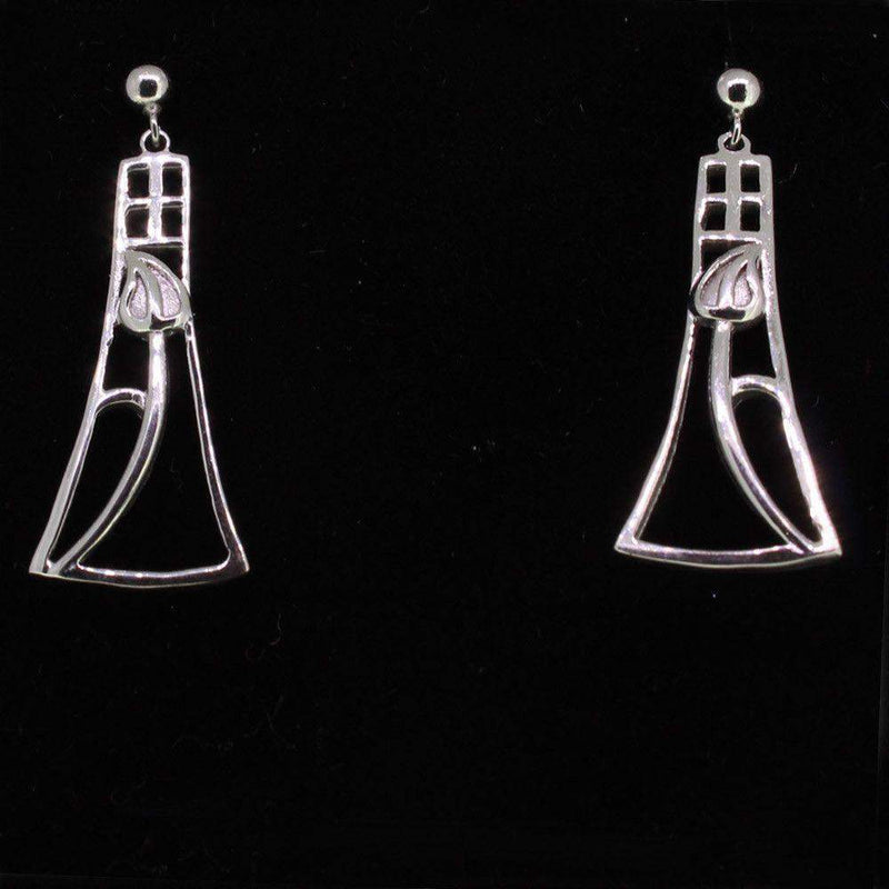 Cairn Sterling Silver Mackintosh Earrings - 632-Ogham Jewellery